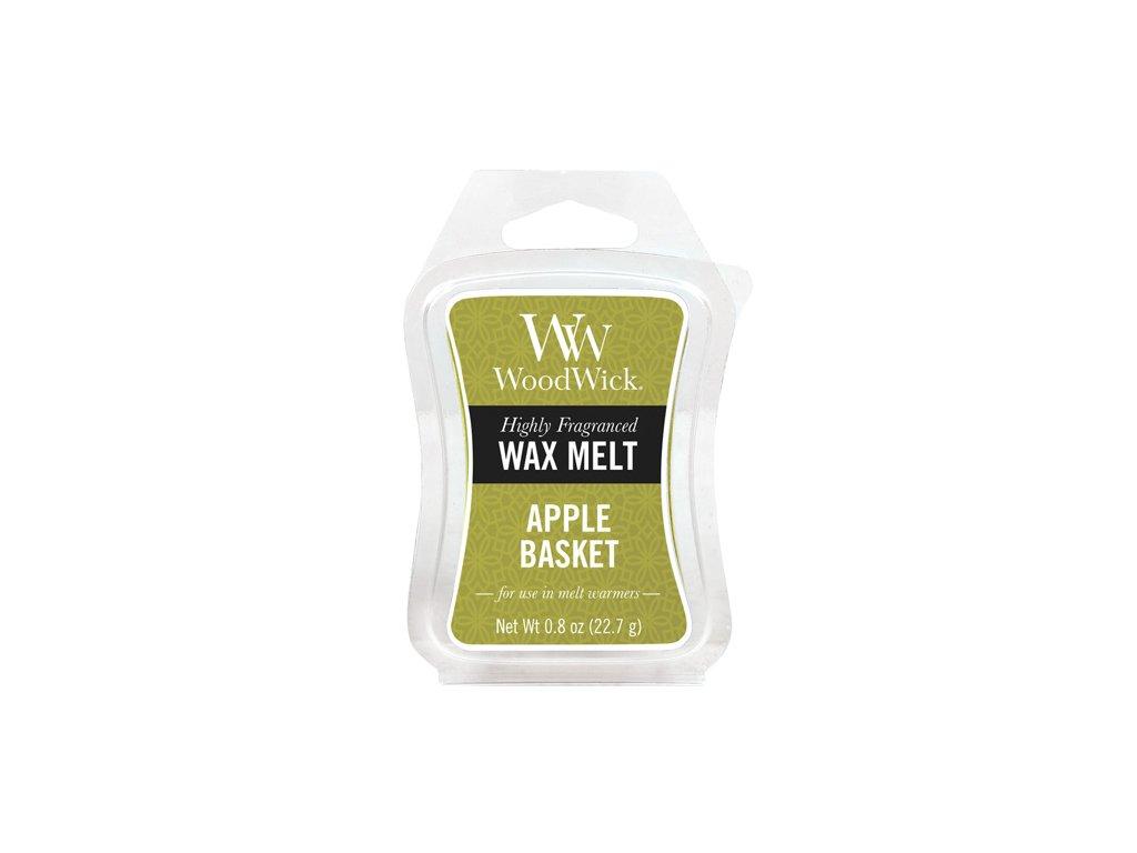WoodWick Vonný vosk do aromalampy Apple Basket - Košík jablek, 22,7g