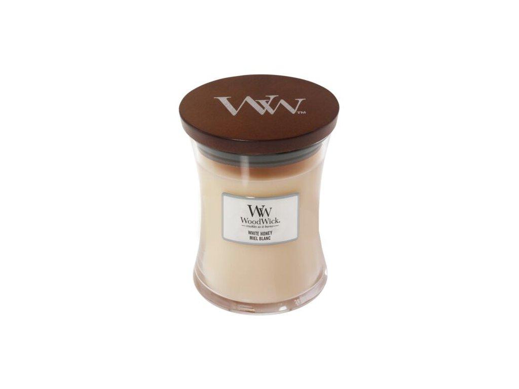 WoodWick Svíčka White Honey váza střední, 275 g