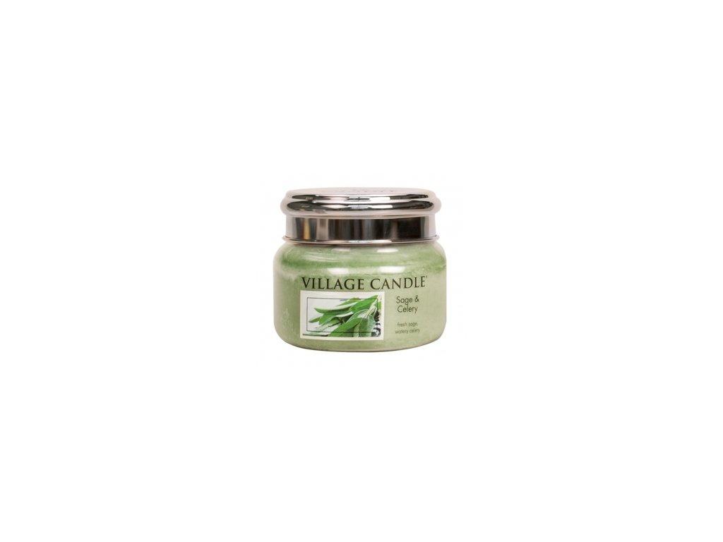 Village Candle Vonná svíčka Svěží Šalvěj - Sage & Celery, 262 g