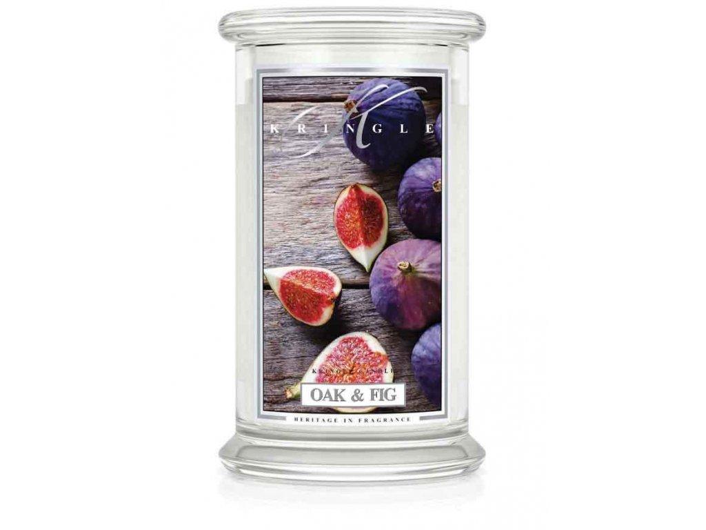 Kringle Candle svíčka Oak & Fig, 623 g