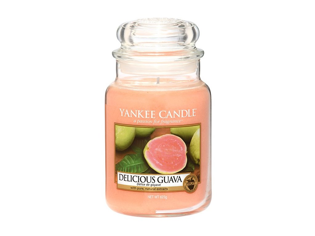 Yankee Candle Vonná Svíčka Delicious Guava Classic velký, 623 g