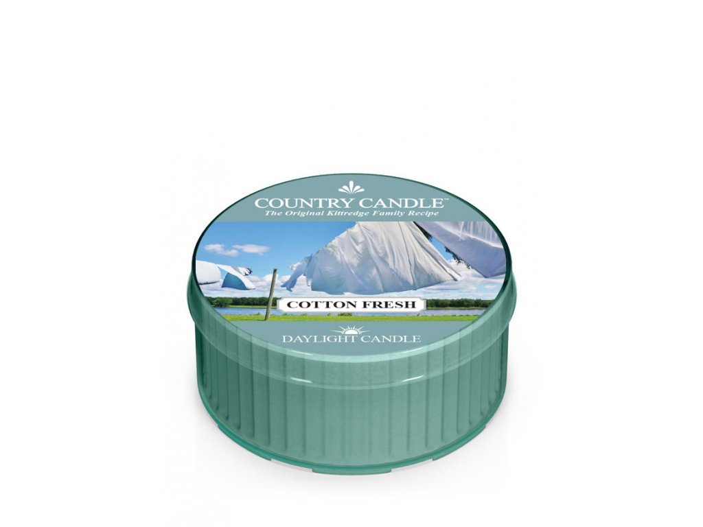 Country Candle Vonná Svíčka Cotton Fresh, 35 g