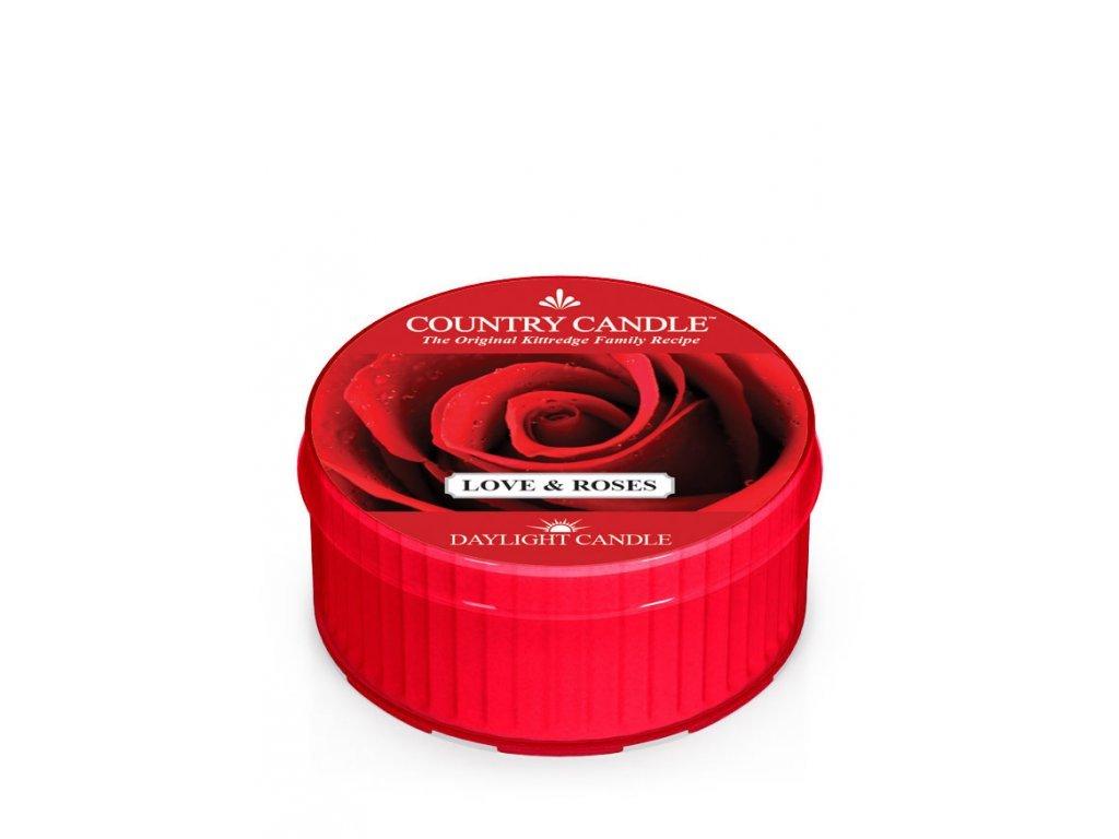 Country Candle Vonná Svíčka Love & Roses, 35 g
