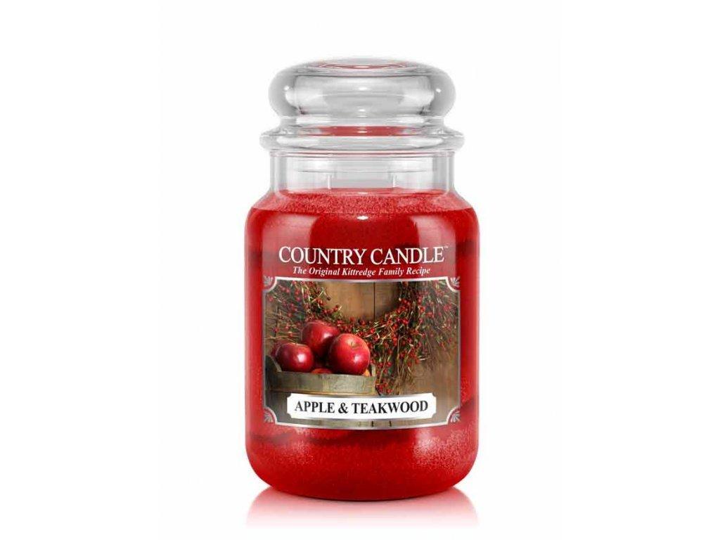 Country Candle Vonná Svíčka Apple & Teakwood, 652 g