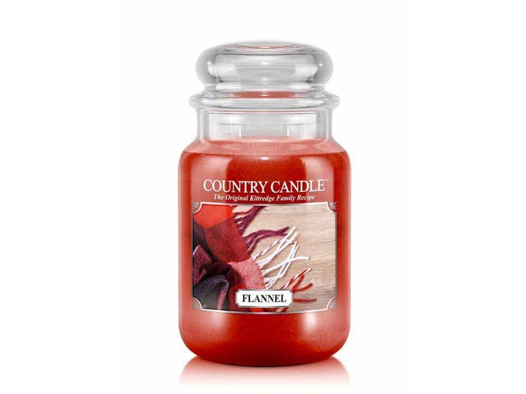 Country Candle Vonná Svíčka Flannel, 652 g