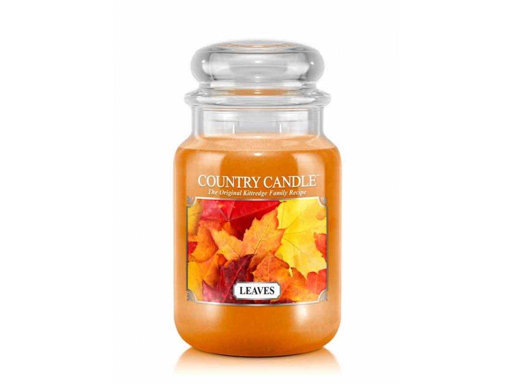 Country Candle Vonná Svíčka Leaves, 652 g