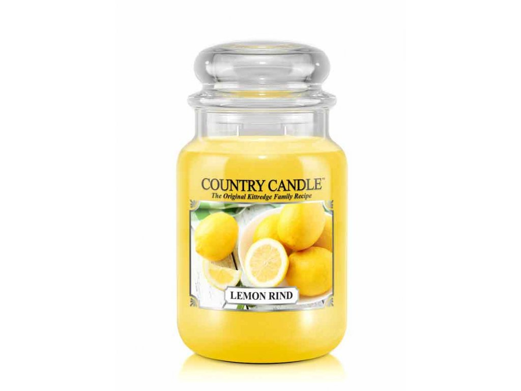 Country Candle Vonná Svíčka Lemon Rind, 652 g