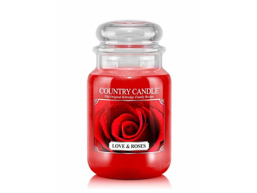 Country Candle Vonná Svíčka Love & Roses, 652 g