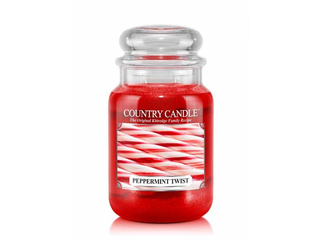 Country Candle Vonná Svíčka Peppermint Twist, 652 g