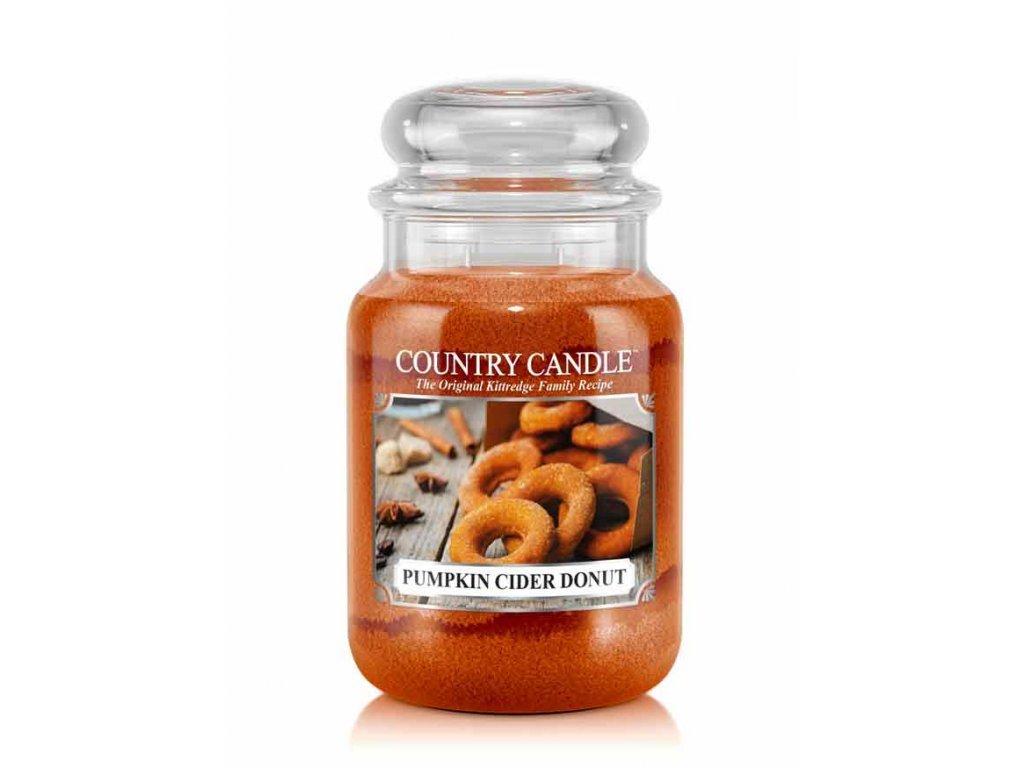 Country Candle Vonná Svíčka Pumpkin Cider Donut, 652 g