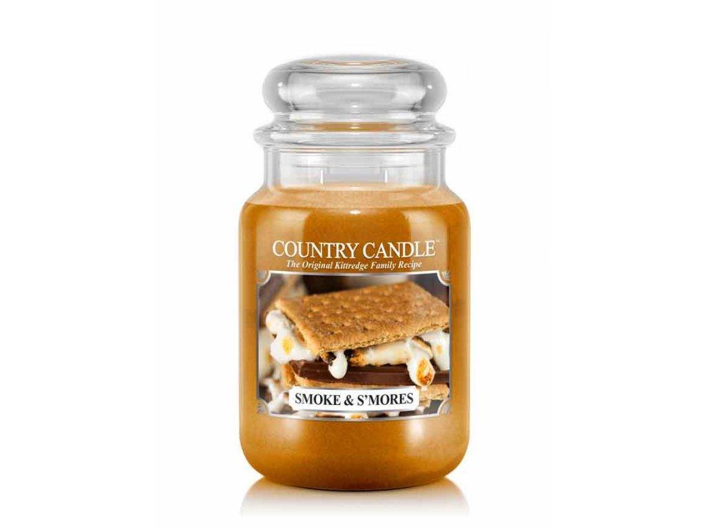 Country Candle Vonná Svíčka Smoke & S'Mores, 652 g