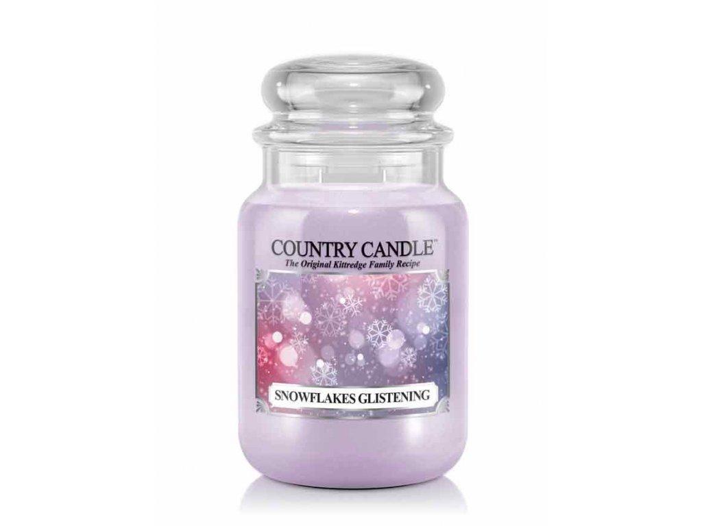 Country Candle Vonná Svíčka Snowflakes Glistening, 652 g