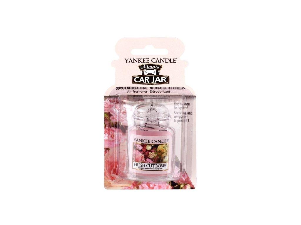Yankee Candle Fresh Cut Roses Gelová aroma visačka do auta, 1 ks