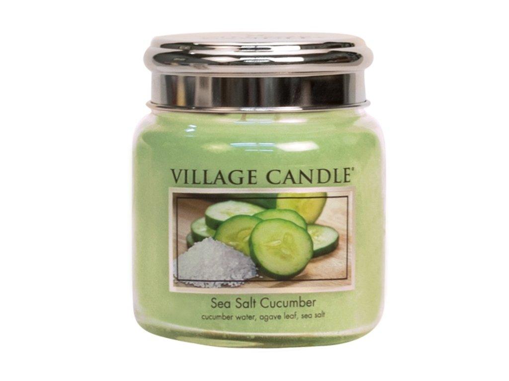 Village Candle Vonná svíčka Mořská Svěžest - Sea Salt Cucumber, 390 g