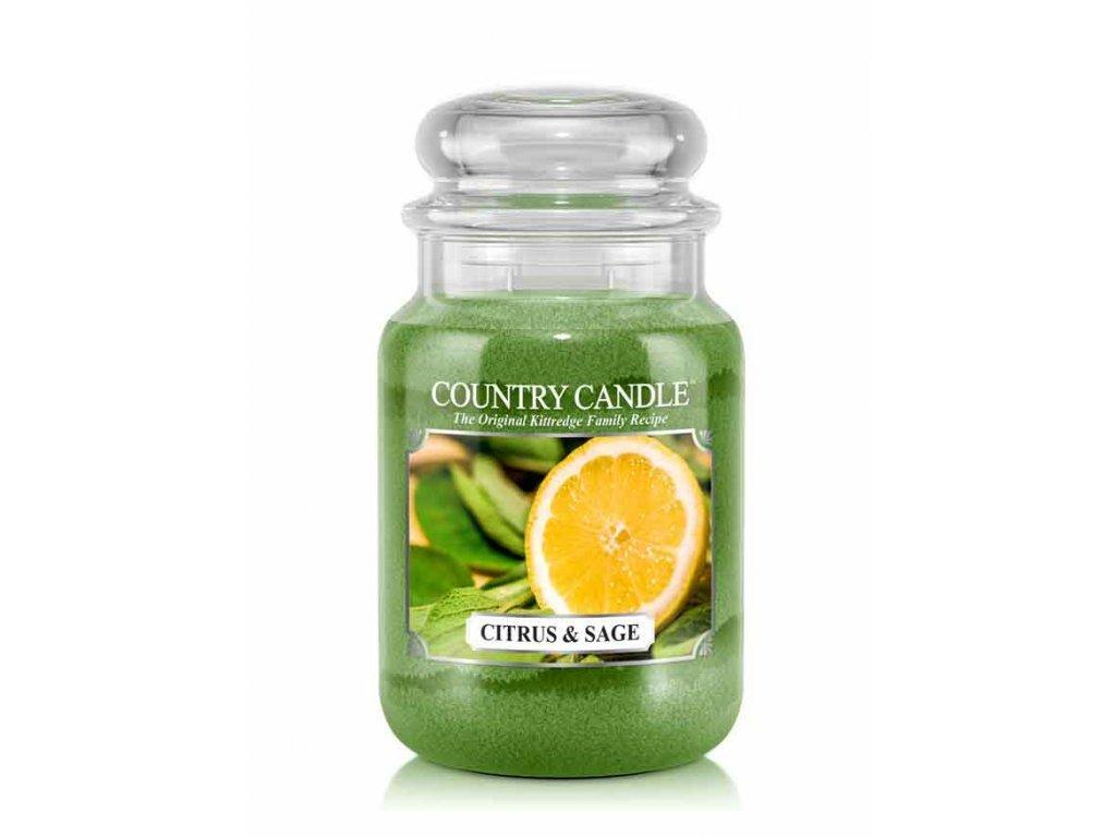 Country Candle Vonná Svíčka Citrus & Sage, 652 g