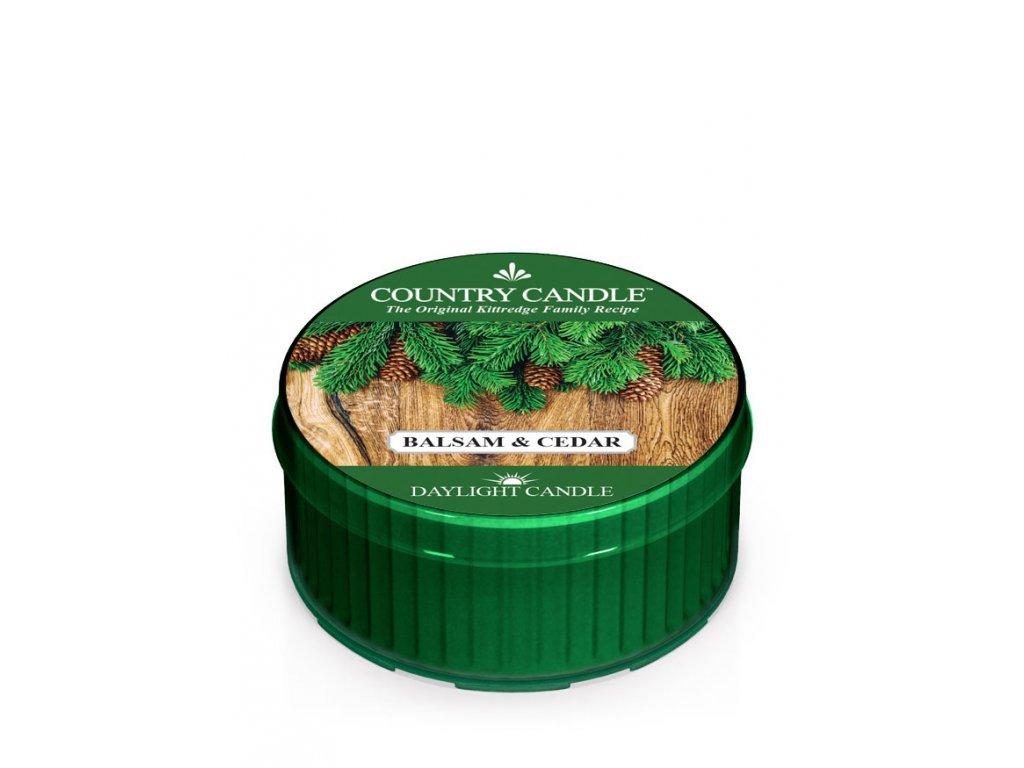 Country Candle Vonná Svíčka Balsam & Cedar, 35 g