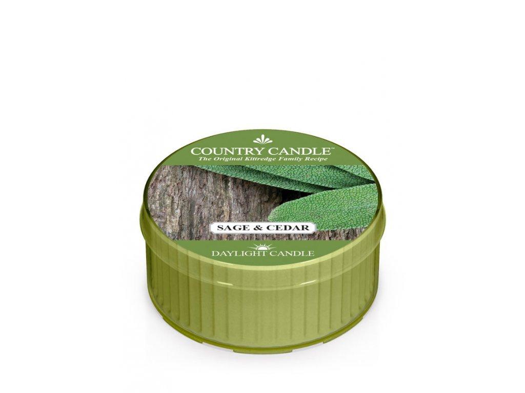 Country Candle Vonná Svíčka Sage & Cedar, 35 g