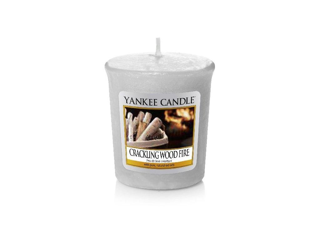 Yankee Candle Vonná Svíčka Votivní Crackling Wood Fire, 49 g