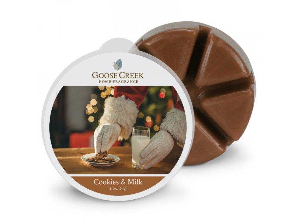 Goose Creek Candle Vonný Vosk Koláčky a mléko - Cookies & Milk, 59 g