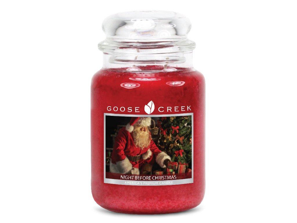 Goose Creek Candle svíčka Předvánoční noc - Night Before Christmas, 680 g