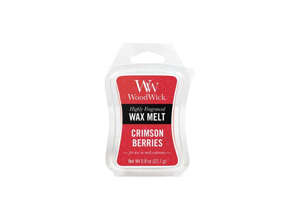 WoodWick Vonný vosk do aromalampy Crimson Berries - Červená jeřabina, 22.7 g