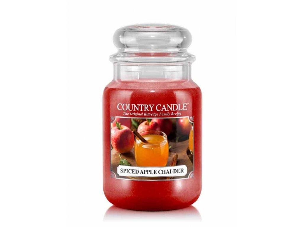 Country Candle Vonná Svíčka Spiced Apple Chai-Der, 652 g