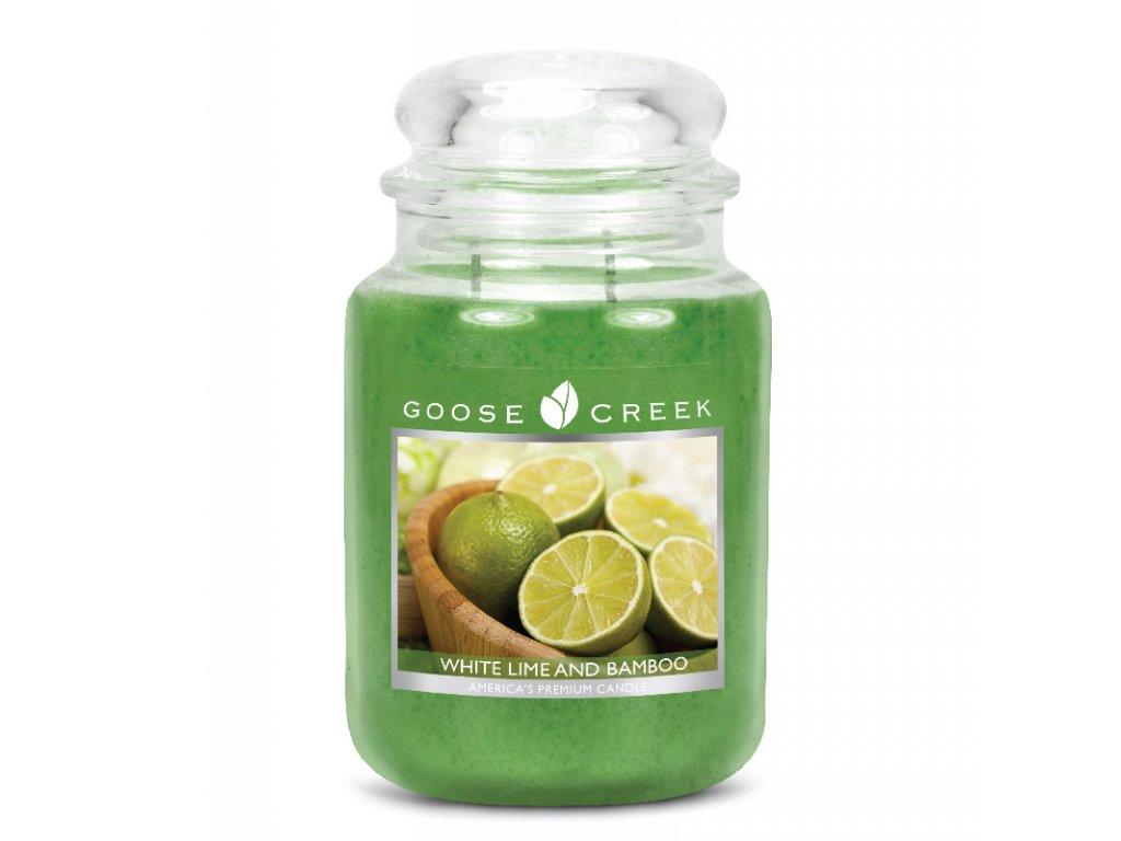 Goose Creek Candle svíčka Bílá limonáda s bambusem - White Lime and Bamboo, 680g