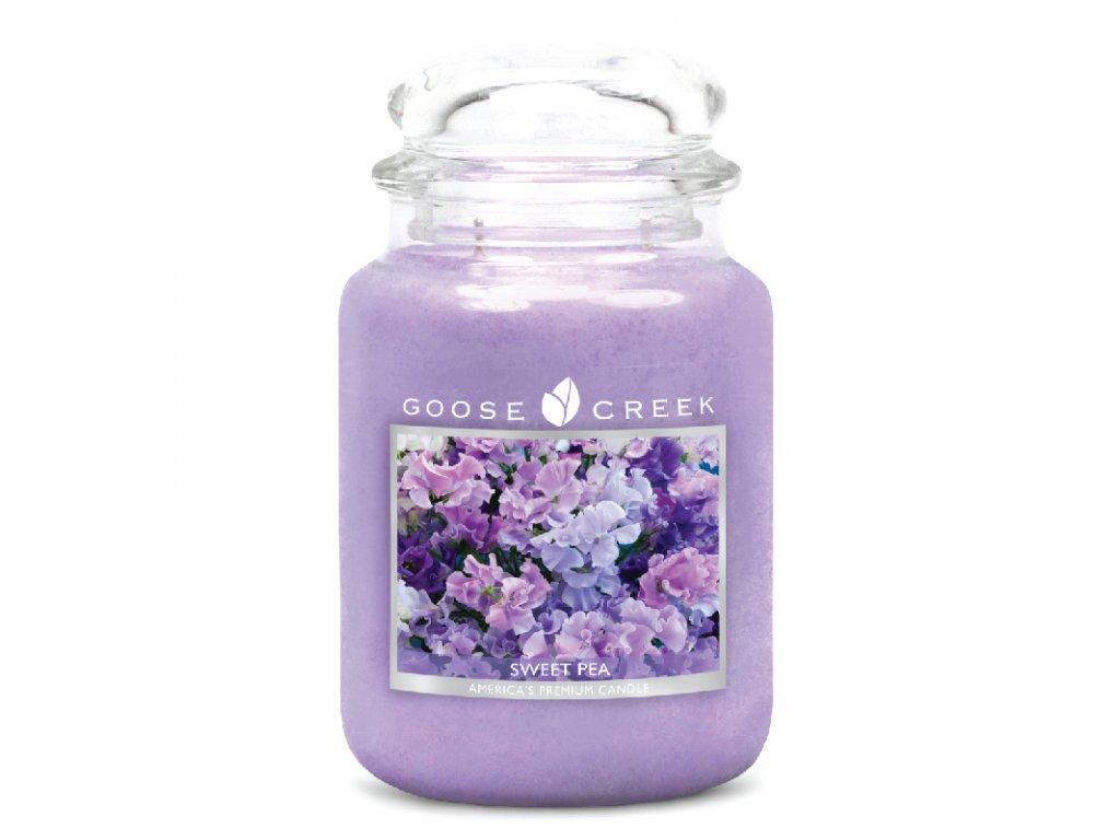 Goose Creek Candle svíčka Sladký hrášek - Sweet Pea, 680 g