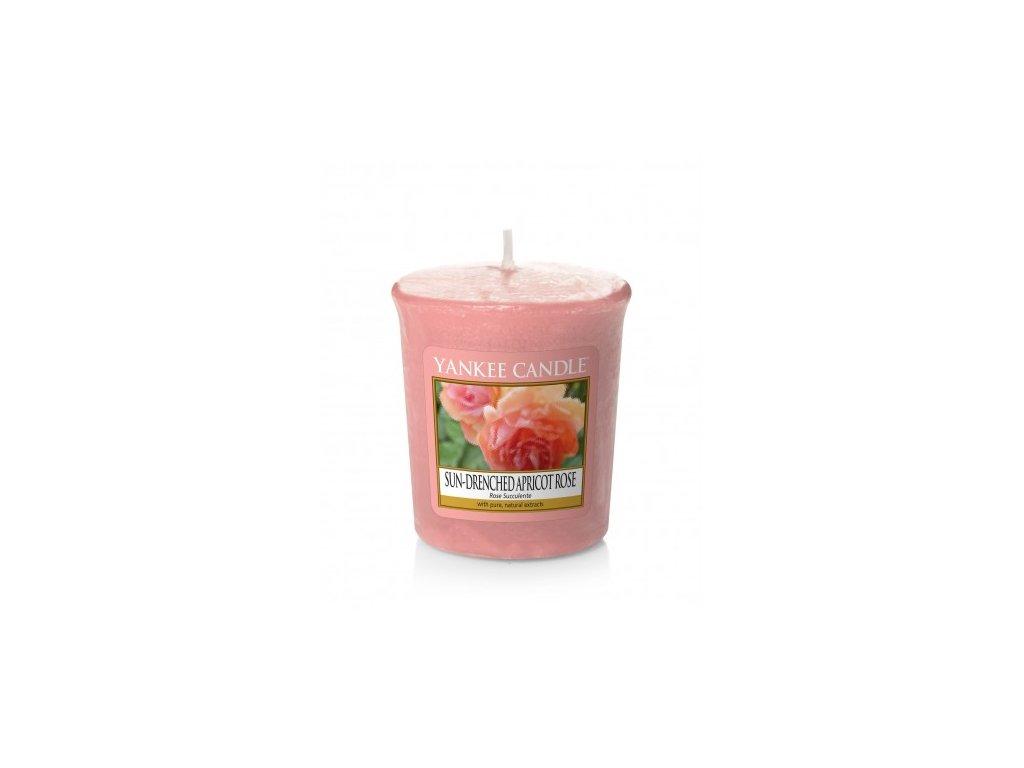 Yankee Candle Vonná Svíčka Votivní Sun-Drenched Apricot Rose, 49 g