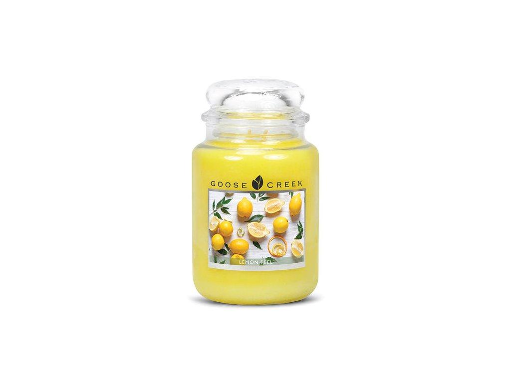 Goose Creek Candle svíčka Citronová kůra - Lemon Peel, 680 g