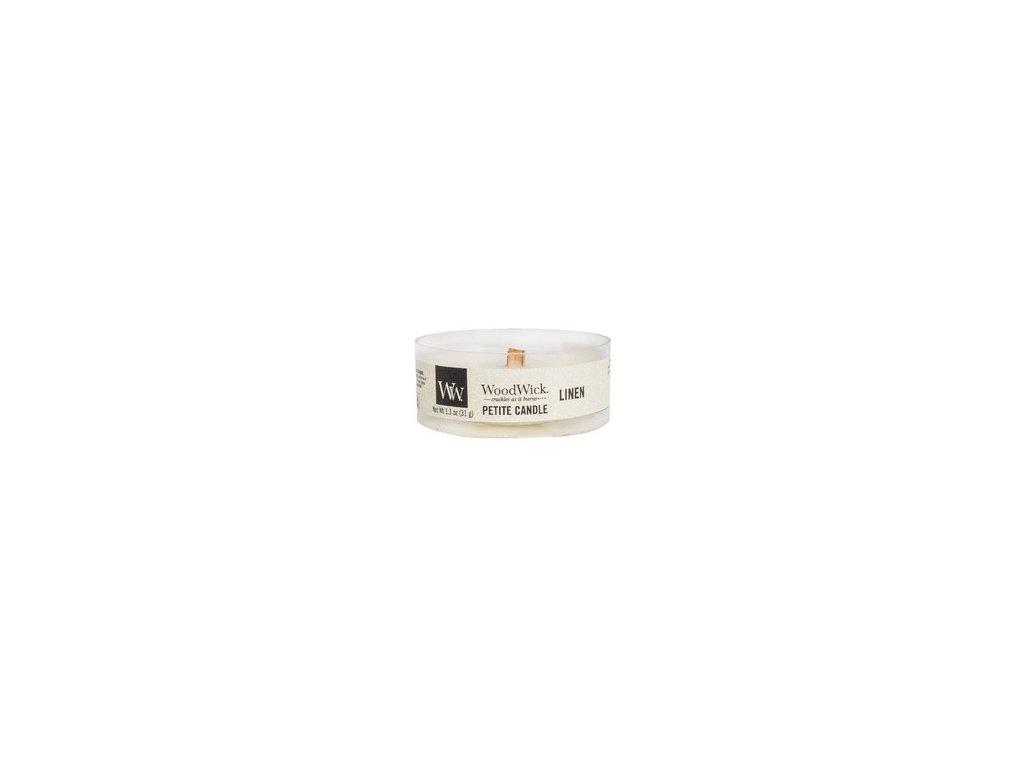 WoodWick Svíčka Petite Linen, 31 g