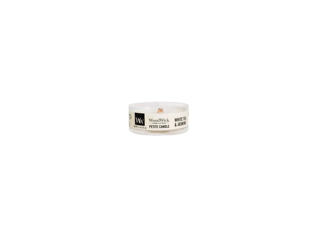 WoodWick Svíčka Petite White Tea & Jasmine, 31 g