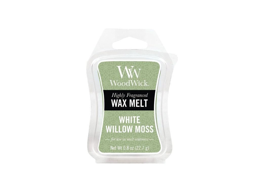WoodWick Vonný vosk do aromalampy White Willow Moss, 22.7 g