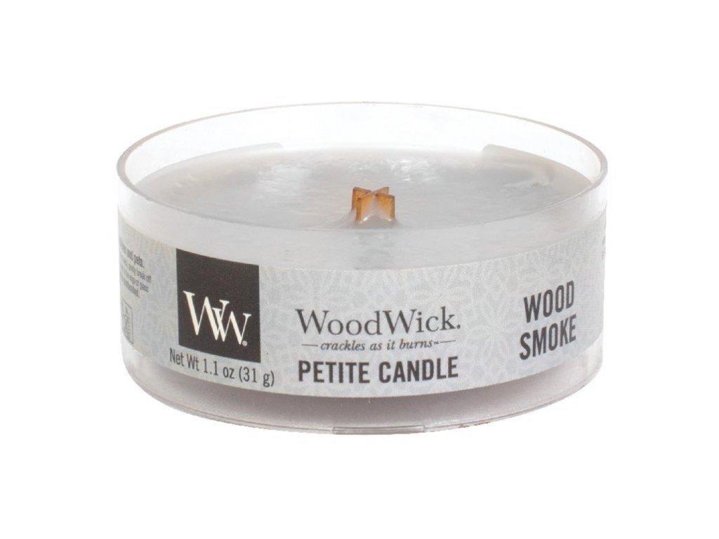 WoodWick Svíčka Petite Wood Smoke, 31 g