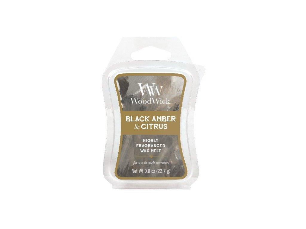 WoodWick Artisan Black Amber & Citrus Vonný vosk do aromalampy, 22,7 g