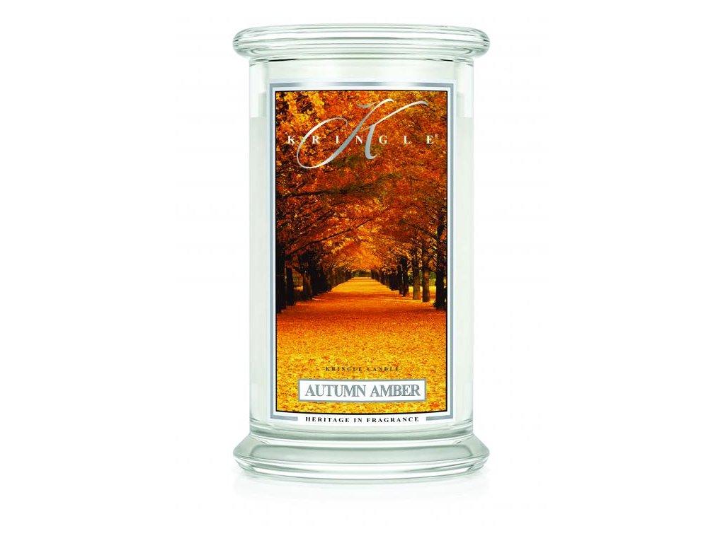 Kringle Candle svíčka Autumn Amber, 623 g