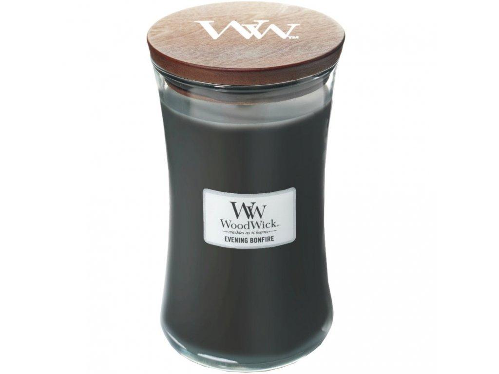 WoodWick Svíčka Evening Bonfire váza velká, 609,5 g