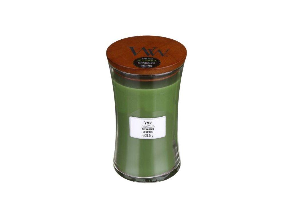 WoodWick Svíčka Evergreen váza velká, 609,5 g