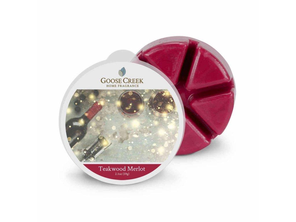 Goose Creek Candle Vonný Vosk Merlot s chutí teak. dřeva Teakwood Merlot, 59 g