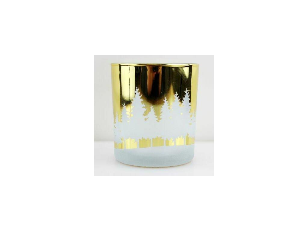 Yankee Candle Winterscape Svícen na votivní, čajovou svíčku Zlatý