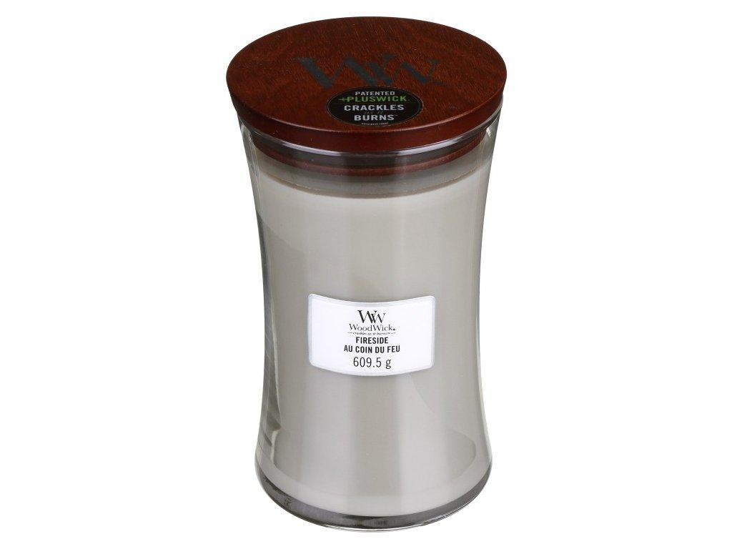 WoodWick Svíčka Fireside váza velká, 609,5 g