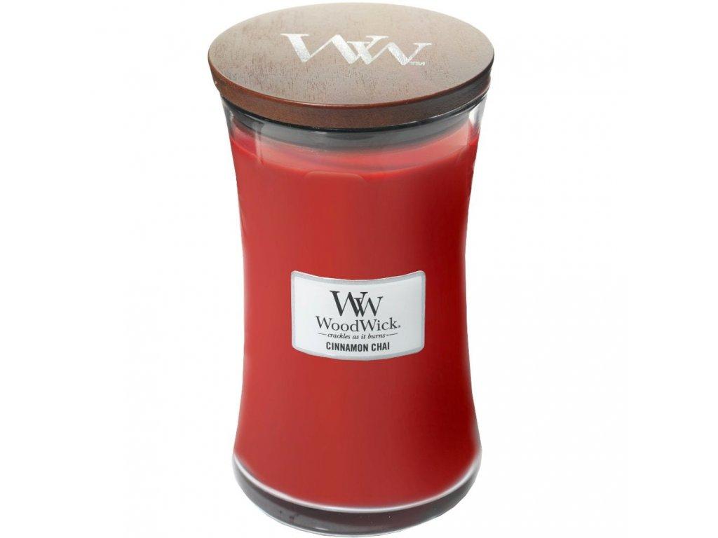 WoodWick Svíčka Cinnamon Chai váza velká, 609,5 g
