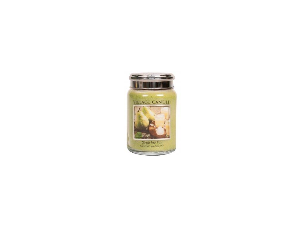 Village Candle Vonná svíčka Hruškový Fizz se Zázvorem - Ginger Pear Fizz, 602 g