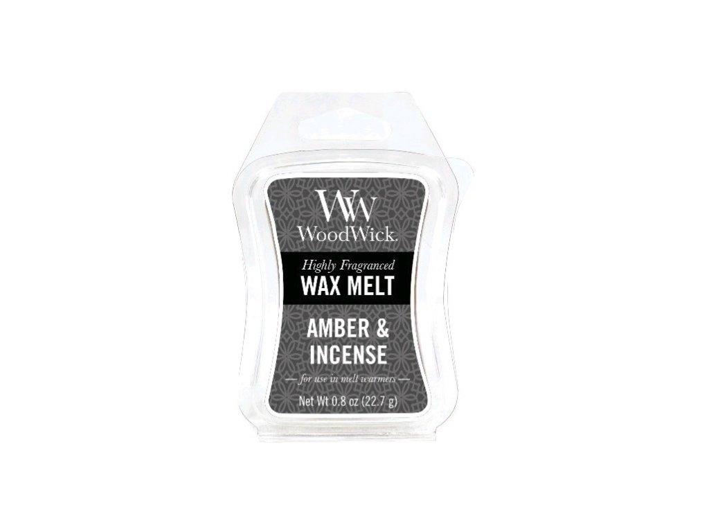 WoodWick Vonný vosk do aromalampy Amber & incense, 22,7 g