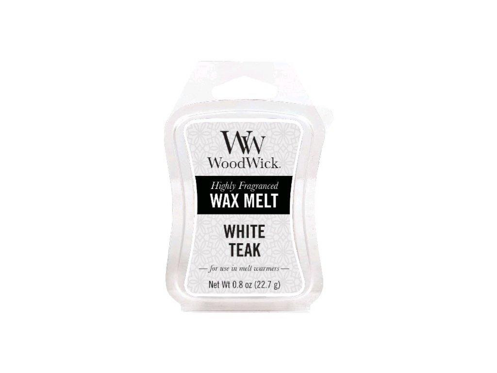 WoodWick Vonný vosk do aromalampy White Teak, 22,7 g