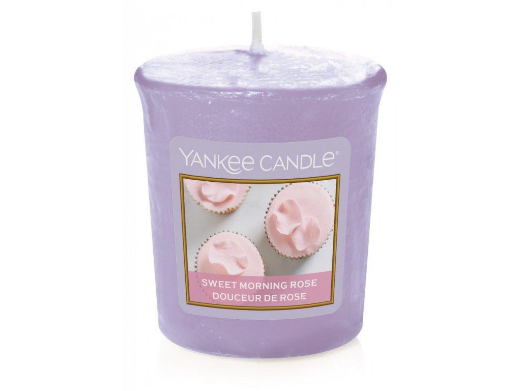 Yankee Candle Vonná Svíčka Votivní Sweet Morning Rose, 49 g