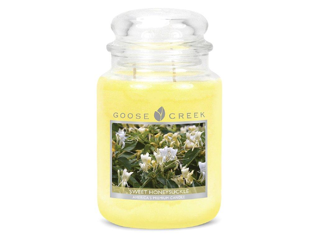 Goose Creek Candle svíčka Sladký Zimolez - Sweet Honeysuckle, 680 g