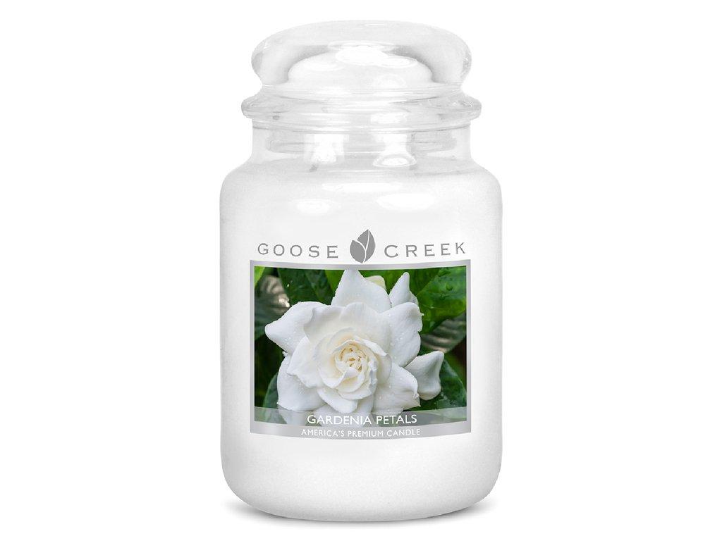 Goose Creek Candle svíčka Zahradní květy - Gardenia Petals, 680 g