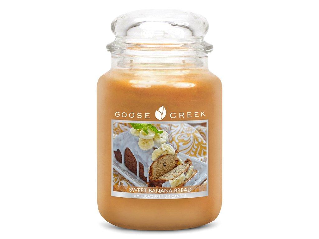 Goose Creek Candle svíčka Sladký banánový chléb - Sweet Banana Bread, 680 g