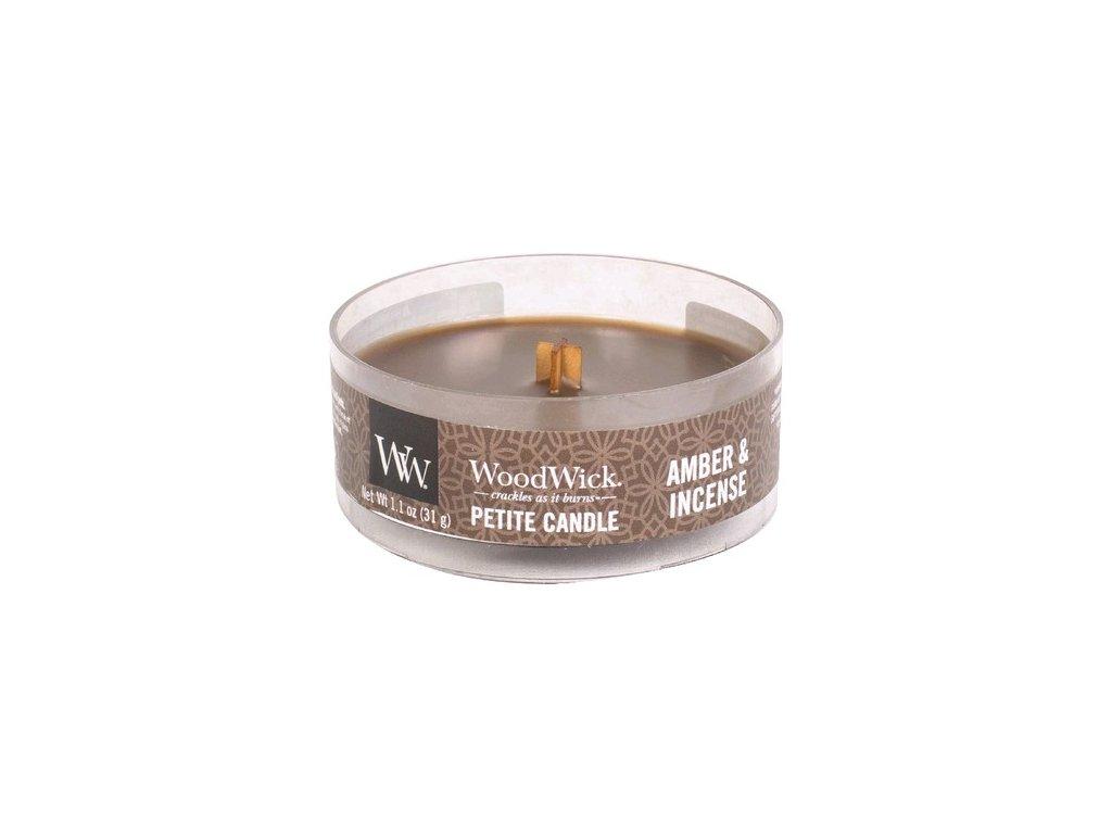 WoodWick Svíčka Petite Amber & Incense, 31 g